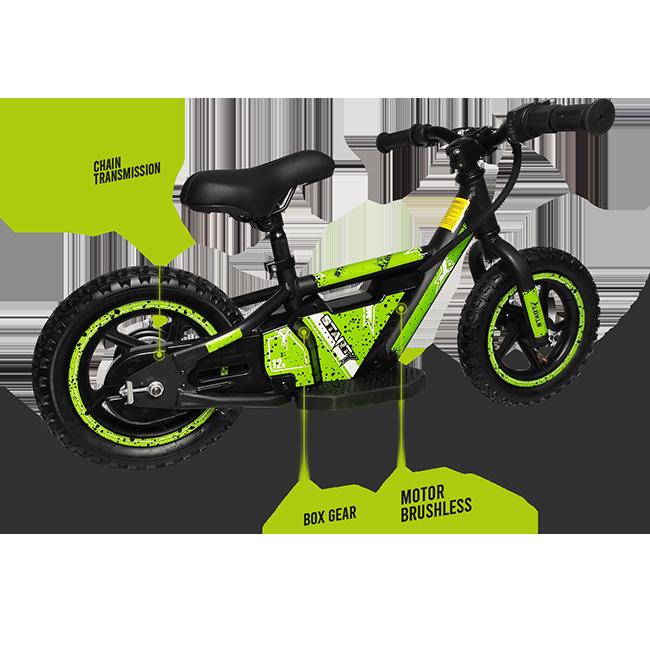 Bicicleta eléctrica con centro de gravedad bajo