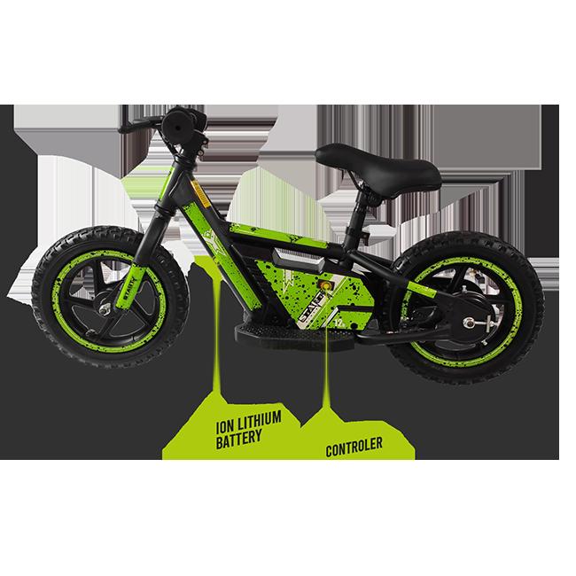 Moto eléctrica con centro de gravedad bajo